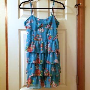 Aeropstale womens blue floral tank dress size M